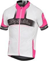 Camisa Ciclismo Spiuk Performance Branca Rosa