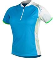 Camisa Ciclismo Spiuk Race Feminina Azul Branca