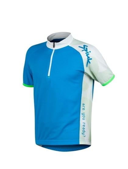 Camisa Ciclismo Spiuk Race Infantil Azul Branca