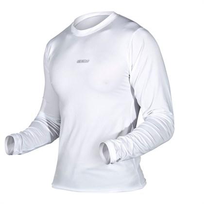 Camisa Segunda Pele Asw Manga Longa Branca - Bike Plus bb535a4dbe88c