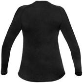 Camisa Segunda Pele Manga Longa Feminina Curtlo ThermoSense Preta