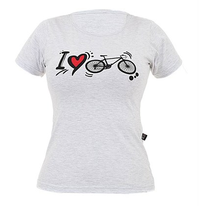 Camiseta Marcio May Feminina I Love Bike Mescla
