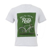 Camiseta Marcio May Masculina Bike To Work Mescla