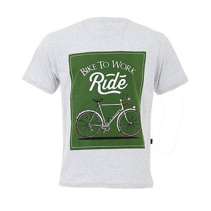 Camiseta Marcio May Masculina Bike To Work Mescla