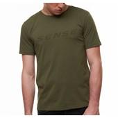 Camiseta Masculina Sense Logo Verde Militar