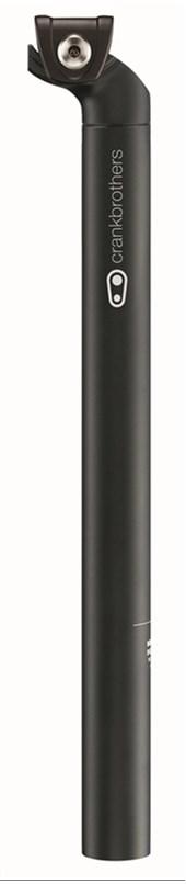 Canote Selim Crank Brothers Cobalt 1 - Preto/preto-aluminio 6061-400mm -30.9 - Recuo 20mm