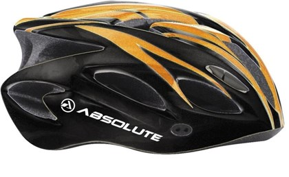 Capacete Bike Absolute WT012 Laranja e Preto