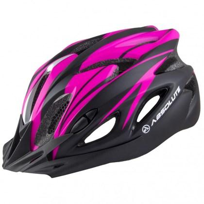 Capacete Bike Absolute WT012 Preto e Rosa