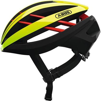 Capacete Bike Abus Aventor Amarelo Neon e Preto