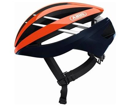 Capacete Bike Abus Aventor Laranja e Azul Marinho