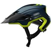 Capacete Bike Abus Montrailer Azul Escuro e Verde
