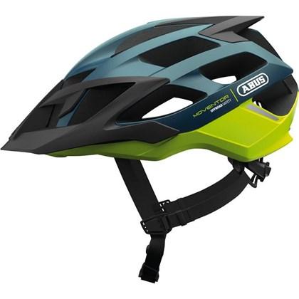 Capacete Bike Abus Moventor Azul Escuro e Verde