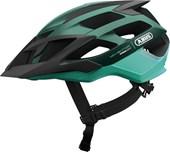 Capacete Bike Abus Moventor Verde Fosco e Verde Celeste