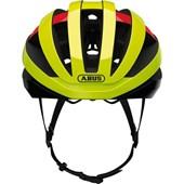 Capacete Bike Abus Viantor Amarelo Neon Vermelho e Preto
