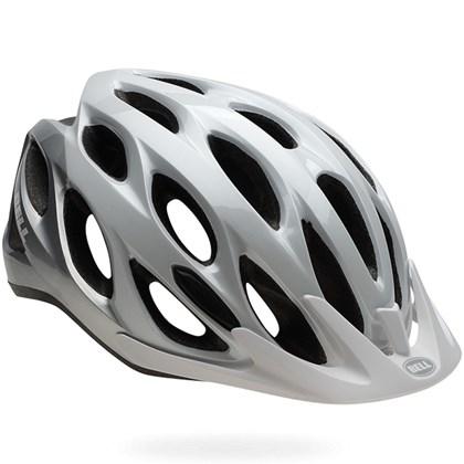Capacete Bike Bell Traverse Branco e Prata