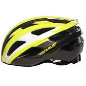 Capacete Bike Brave 352 Amarelo Preto e Branco