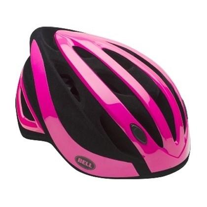 Capacete Bike Feminino Bell Impel Rosa e Preto