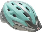 Capacete Bike Feminino Bell Thalia Verde e Prata
