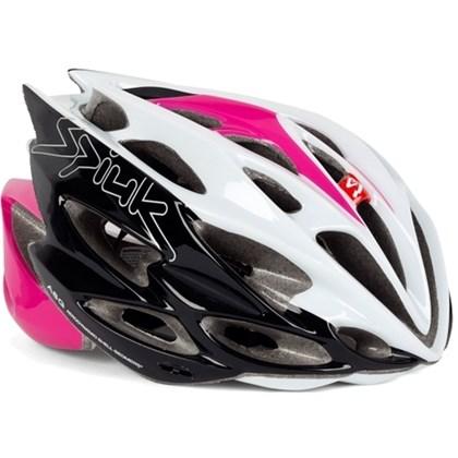 Capacete Bike Feminino Spiuk Nexion Branco Rosa