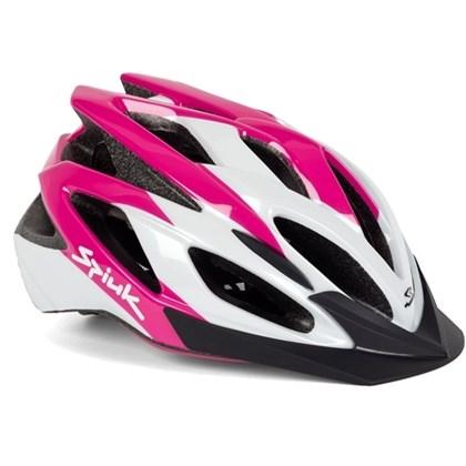 f7ae86279 Capacete Bike Feminino Spiuk Tamera Rosa Branco - Bike Plus