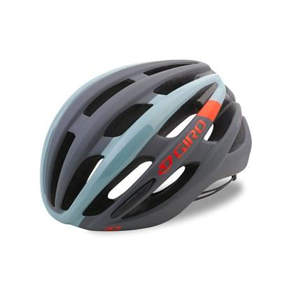 Capacete Bike Giro Foray Cinza Azul e Laranja