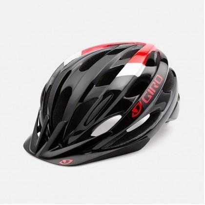 Capacete Bike Giro Revel Preto e Vermelho