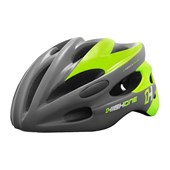 Capacete Bike High One Volcano Cinza e Verde