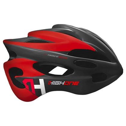 Capacete Bike High One Volcano Cinza e Vermelho