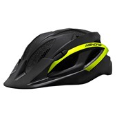 Capacete Bike High One Win Preto e Amarelo Neon