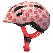 Capacete Bike Infantil Abus Smiley 2.1 Kids Rosa Morango