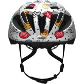 Capacete Bike Infantil Abus Smooty 2.0 Kids Branco Smiley