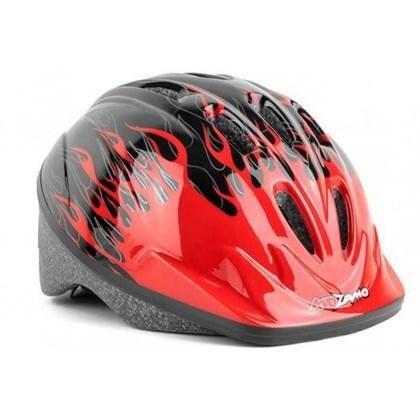 Capacete Bike Infantil Chamas Vermelho e Preto