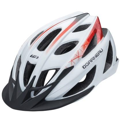 Capacete Bike Louis Garneau Le Tour Branco e Vermelho