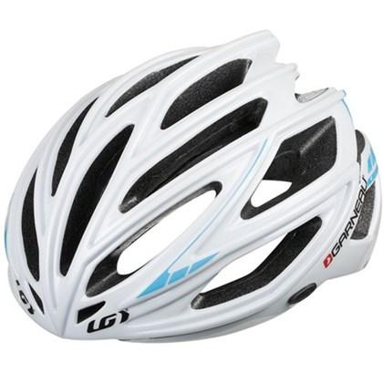 Capacete Bike Louis Garneau Sharp Branco e Azul