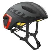 Capacete Bike Scott Cadence Plus Preto Fosco e Laranja