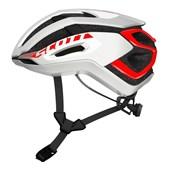 Capacete Bike Scott Centric Plus Branco Fosco e Vermelho