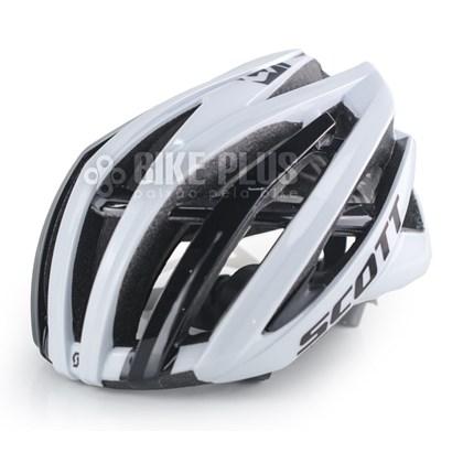 Capacete Bike Scott Vanish 2 Branco e Preto
