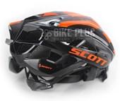 Capacete Bike Scott Vanish 2 Preto e Laranja