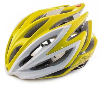Capacete Bike Spiuk Dharma Amarelo Branco