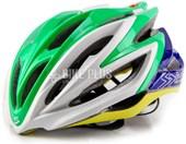 Capacete Bike Spiuk Dharma Brasil Verde Amarelo