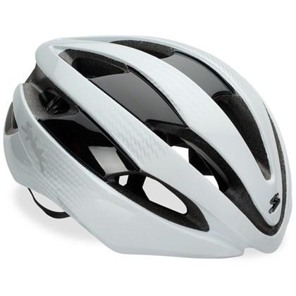 Capacete Bike Spiuk Eleo Branco e Prata