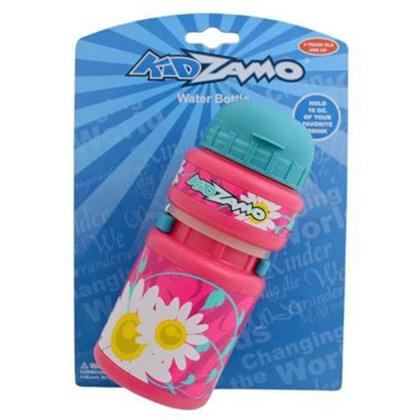 Caramanhola Infantil Flores KidZamo 300ml Rosa com Suporte