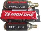 Cartucho CO2 High One 16g Kit 2 unidades com Rosca