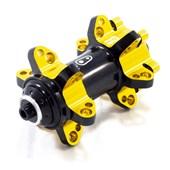 Cubo Bike Dianteiro Crank Brothers Cobalt 11 9mm Preto e Dourado