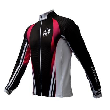Jaqueta Ciclismo Feminina ERT MTB Preta e Rosa