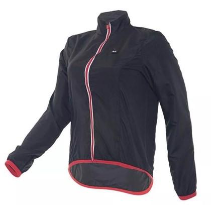 Jaqueta Corta Vento Feminina Marcio May Sports Comfort Preta Vermelha