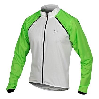 Jaqueta Corta Vento Impermeável Spiuk Team Branca Verde