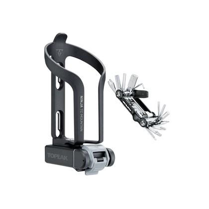 Kit Canivete Bike Topeak Ninja com Caixa e Suporte Caramanhola TNJ-TCM