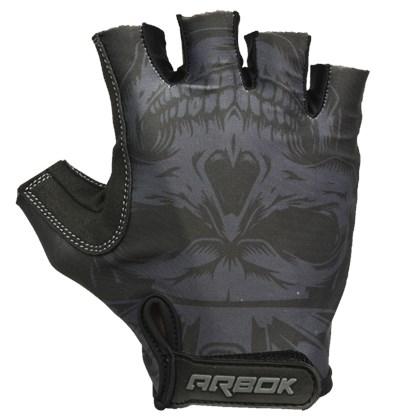 Luva Bike Arbok Dark Com Velcro Preta