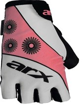 Luva Bike ARX Basic Lady Branca Rosa